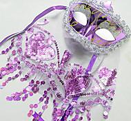 Ragazza Multicolor Veil Carnevale Masquerade Charme & Exotic Mask