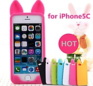 New 3D Cat Ears Silicone Soft Case for iPhone 5C (Assorted Colors)