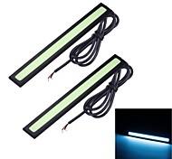 Merdia 6W 8000K 1500LM 14SMD LED COB Blue Ice luz de tira del coche Luz / día LED (14CM / 12 V)