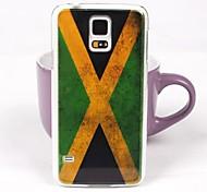 Vintage Pattern Bandeira Jamaica volta caso PC para Samsung S5/I9600