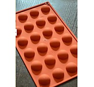 24 Semicircle Chocolate Mould Cake,Silicone 29.8×17.4×1.5 CM(11.7×6.9×0.6 INCH)