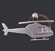 The Plane  Shape Metal Silver Keychain Toys