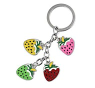Multicolored Strawberry  Epoxy Metal Key /Luggage Deduction(1pc)
