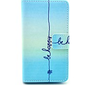 Be Happy Pattern PU Leather Full Body Case with Card Slot Stand for Nokia Lumia N520
