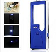3 blanco llevado portable y 1 azul llevó la luz de la lupa de 6x con un bolígrafo (3 * LR1130)
