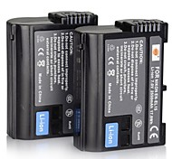 2550mah 7.0V DSTE x 2 batería EN-EL15 + dc113 x 1charger para nikon d7000 cámara D610 d800
