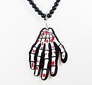 Skeleton Pattern Acrylic Necklace