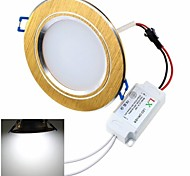 ZHISHUNJIA 12W 24x 5630SMD 900lm 6000K светодиодных Белый Свет Светодиодная лампа потолка ж / LED Driver (AC85 ~ 265V)