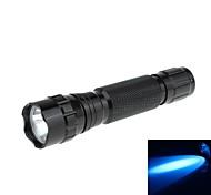 Zweihnder WF-501B-2 a prueba de agua 1-Mode 1xCREE XP-G R5 Azul de luz LED Flashlight (150LM, 1x14500, Negro)