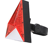 YELVQI Red Stereoscopic Triangle Bike Bicycle Warning Tail Light
