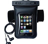 impermeável braçadeira mergulho com audio headphone para iphone 6