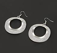 Mode Silber Kreisform-Tropfenohrring (1 Paar)