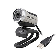 Aoni 12 Megapixel Clip-on Webcam with Microphone and Night Vision