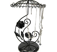 Lureme®Fashion Flower Umbrella Jewelry Display Stand For Earrings & Necklace