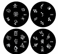 1PCS Nail Art Stamp Stamping Image Template Plate B Series NO.13-16(Assorted Pattern)