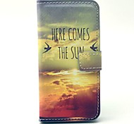 Sun Comming Here PU Leather Case with Card Holder for Samsung Galaxy S4 Mini I9190