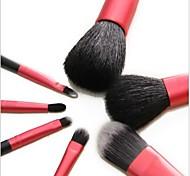 7Pcs Make-up Pinsel-Set mit Tasche Magenta