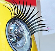 Eyelash Car Decorative Vehicle Headlight Sticker (Pair)
