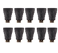 Professional HDMI Female to Mini HDMI Male Adapter/Converter (10PCS)
