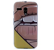 Teeth and Lips Pattern Silicone Soft Case for Motorola MOTO G