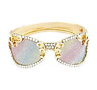 European Metal Diamond Personality Glasses Temperament Bracelet