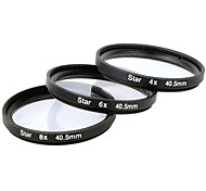 Star Filter x 40.5mm 4 point + 6 point + 8 point Three pieces Combination Suit for Canon / Nikon / Sony SLR etc - Black