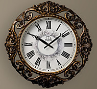 "20""H Europen Style Antique Round Brown Wall Clock"