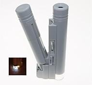led portátil iluminado 80x microscopio binocular (2 x AA)