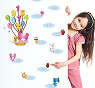 Doudouwo ® мультфильм для детей Высота стены стикеры