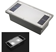 Solar Powered 2-LED White Outdoor Garden Pathway Recessed Brick Light