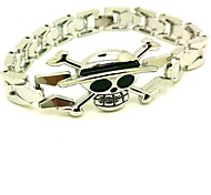 One Piece Straw Hat Pirate Silver Alloy Cosplay Bracelet