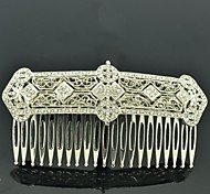 9cm Vintage Style Women Party Jewelry Clear Rhinestone Palace Hair Comb Headband