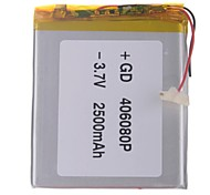 "Universal Replacement 3.7V 2500mAh  Li-polymer Battery for 7~10"" Macbook Samsung Acer Sony Apple Tablet PC (4*60*80)"