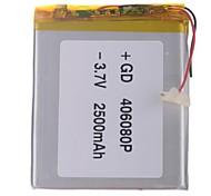 """Universal de reemplazo 3.7V 2500mAh de la batería del Li-polímero de 7 ~ 10 """"Macbook Samsung Acer Sony Tablet PC de Apple (4 * 60 * 80)"""