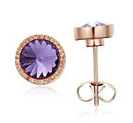 Lady Jewelry 18K Rose banhado a ouro brilhando Áustria cristal Shinning brincos