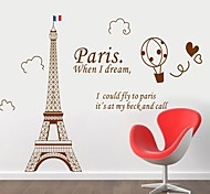Doudouwo® Architecture Modern Style Building Of The Eiffel Tower Wall Stickers