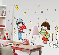 Doudouwo® Romance The Boy's And The Girl's Sweet dream Wall Stickers