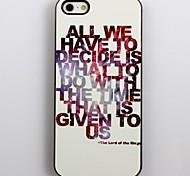 Il Signore degli Anelli Hard Case design in alluminio per iPhone 4/4S