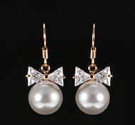 Earring Drop Earrings Jewelry Party / Daily / Casual Imitation Pearl / Copper
