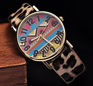 Women's Fashion Wavy Lines Leopard Digital Watch(Assorted Colors)