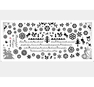 2PCS Snow Water Transfer Printing Nail Stickers