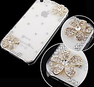 fiore con diamante posteriore Case for iPhone 4 / 4s