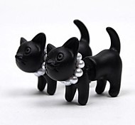 Single Harajuku Stereo Pearl Cat Earrings