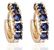 Frauen-Mode einzigartiges Design 18 Karat Gold Zirkon Ohrringe