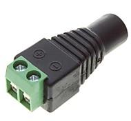 5,5 x 2,1 mm tomas de corriente dc cctv (10-pack)