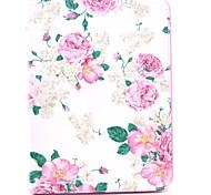 roos bloem patroon full body lederen tas hoes met standaard voor samsung tab 4 10.1 T530