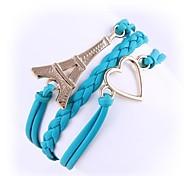 (1 Pc)Sweet 4.8cm Women's Eiffel Tower Alloy Chain & Link Bracelet