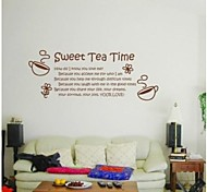 JiuBai™ Tea Time Home Decoration Wall Sticker Wall Decal