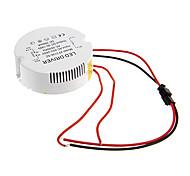 0.3a 31-36w dc 90-140v al conductor ac 85-265v circular externa de corriente constante fuente de alimentación para la lámpara de techo llevada