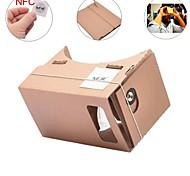 diy google papelão virtuais óculos 3d realidade neje com tag NFC para iphone android celular 4-7 polegadas